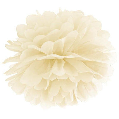 Cream Tissue Pom Pom 35cm - Ralph and Luna Party Shop