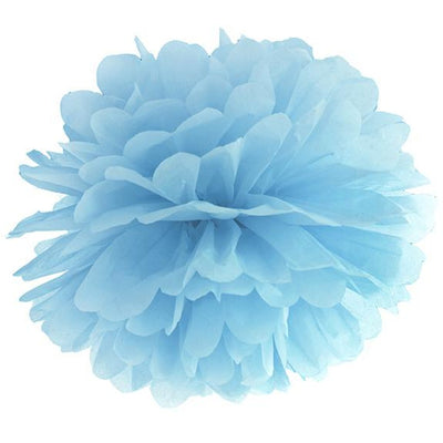 Misty Blue Tissue Pom Pom 35cm - Ralph and Luna Party Shop