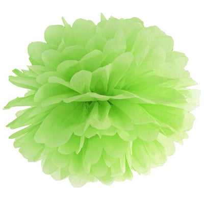 Green Apple Tissue Pom Pom 35cm - Ralph and Luna Party Shop