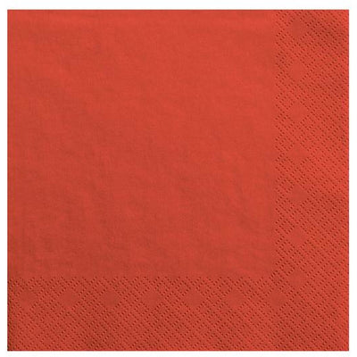 Red Napkins 33cm - Ralph and Luna Party Shop