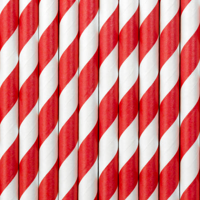 Red Stripe Paper Straws - Ralph and Luna Party Shop