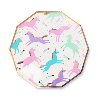 Magical Unicorn Small Plates - Ralph and Luna Party Shop
