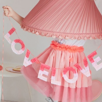 Valentines Ombre Love Garland - Ralph and Luna Party Shop