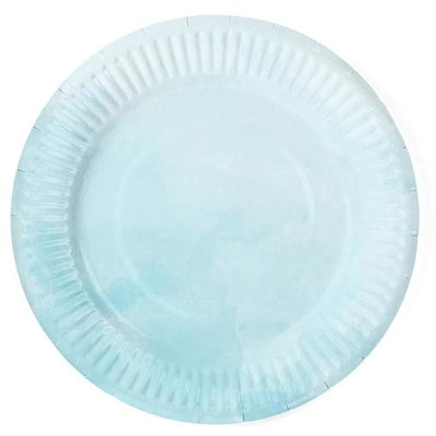 Turquoise Ombre 18cm Party Plates - Ralph and Luna Party Shop