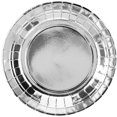 Silver 18cm Party Plates - Ralph and Luna Party Shop