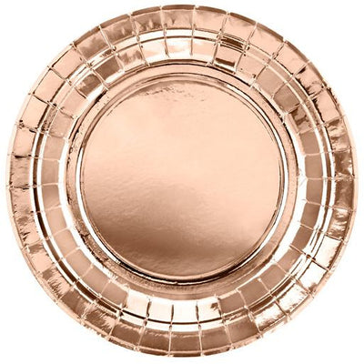 Rose Gold 18cm Party Plates - Ralph and Luna Party Shop
