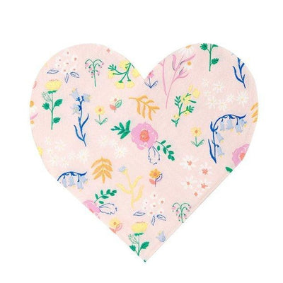 Wildflower Heart Small Napkins - Ralph and Luna Party Shop