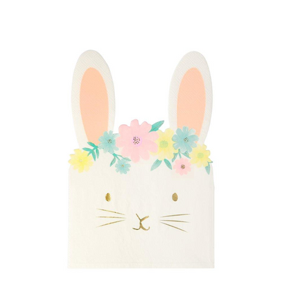 Floral Bunny Napkins - Ralph and Luna Party Shop