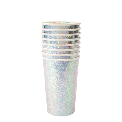 Silver Sparkle Highball Cups - Ralph and Luna Party Shop