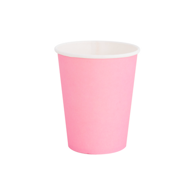 Rose Pink Paper Party Cups - Ralph and Luna Party Shop