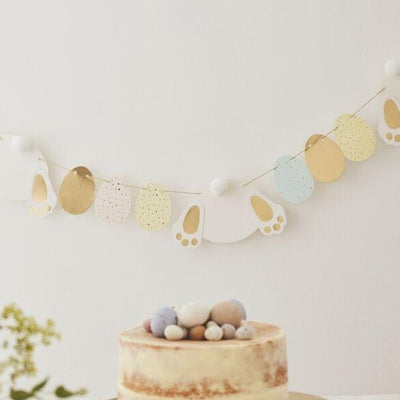 Bunny and Egg Easter Bunting Decoration - Ralph and Luna Party Shop