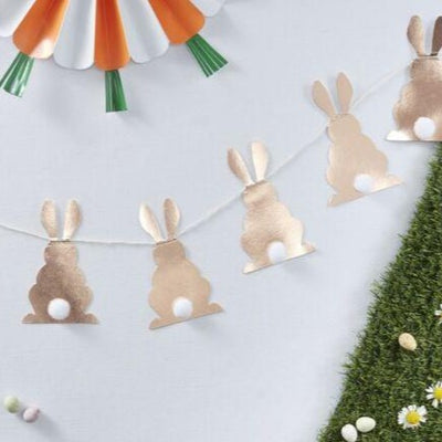 EASTER BUNNY BUNTING POM POM TAIL - Ralph and Luna Party Shop