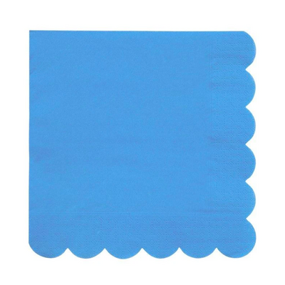 Bright Blue Large Napkins - Ralph and Luna Party Shop