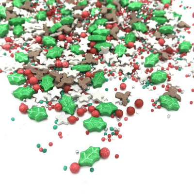 Christmas Red Nose Reindeer Sprinkles - Ralph and Luna Party Shop
