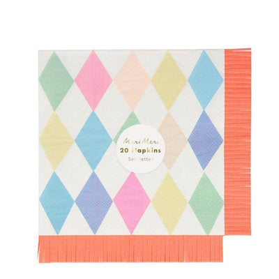 Circus Fringe Large Napkins - Ralph and Luna Party Shop