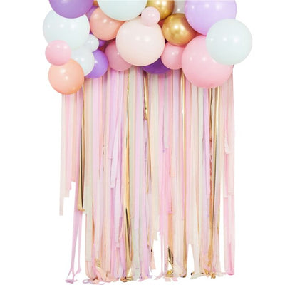 Pastel Streamer And Balloon Party Backdrop - Ralph and Luna Party Shop