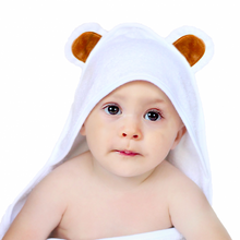 Load image into Gallery viewer, Kids Terrycloth Hooded Bear Wrap