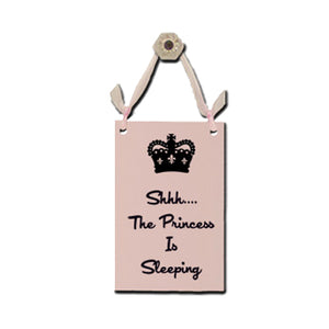 "Door Sign ""Shhh…the Princess is Sleeping"""