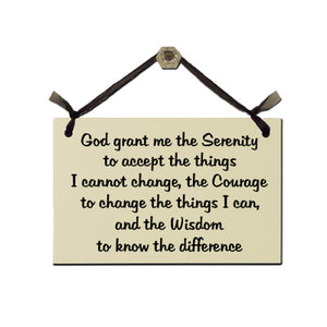 "Door Sign ""Serenity Prayer"""