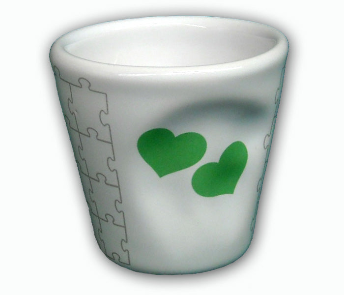 TOP MOKA - Short glass 6 - HEART DESIGN