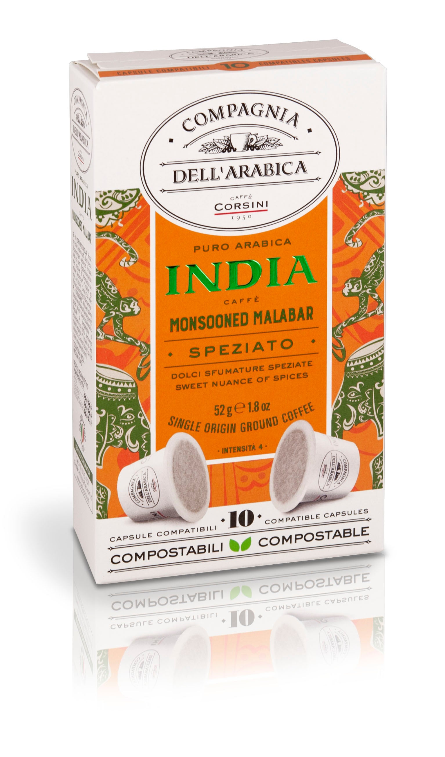 CAPSULE CORSINI - INDIA MONSOONED MALABAR (x10)