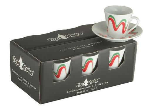 TOP MOKA - Box 6 cups + 6 saucers only colour