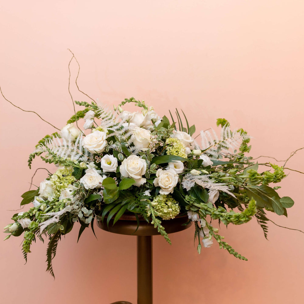 Casket Spray Full with Neutral Florals
