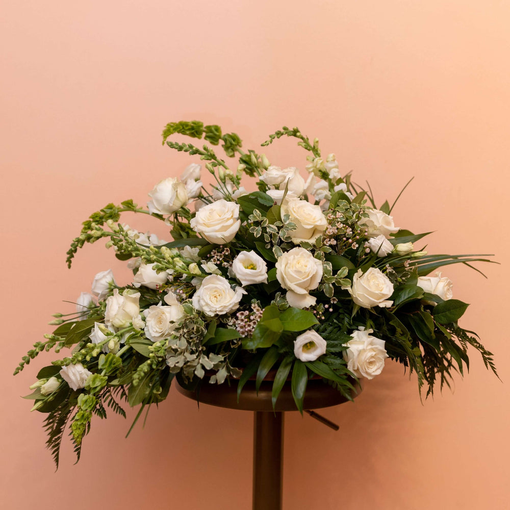 Casket Spray Half with Neutral Florals