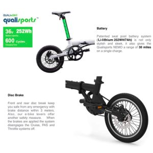 Qualisports Nemo Folding Electric Bike 16in Foldable