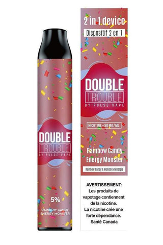 DOUBLE TROUBLE (2-in- 1) RAINBOW CANDY - ENGERY MONSTER