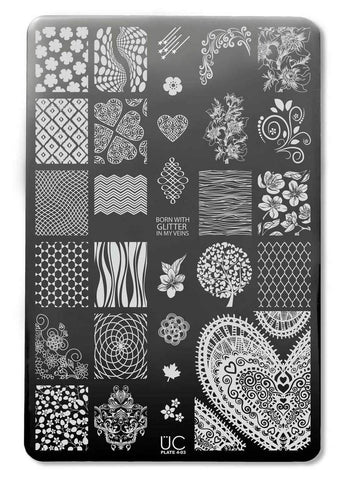 UberChic Collection 4 stamping plates