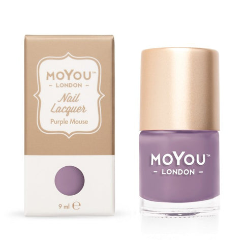 MoYou London Stamping Polish - Purple Mouse