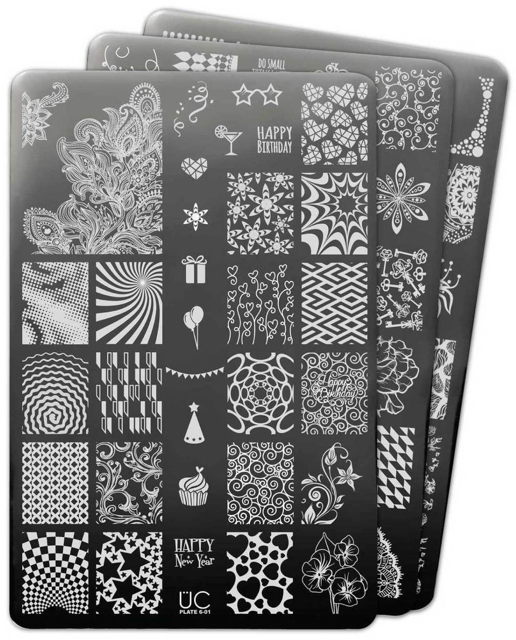 UberChic Collection 6 stamping plates