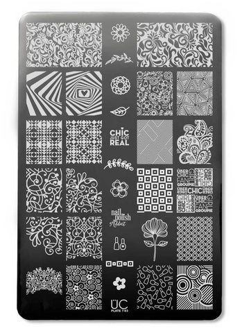 UberChic Collection 7 stamping plates