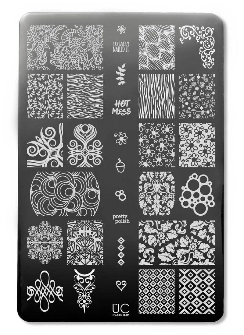 UberChic Collection 8 stamping plates