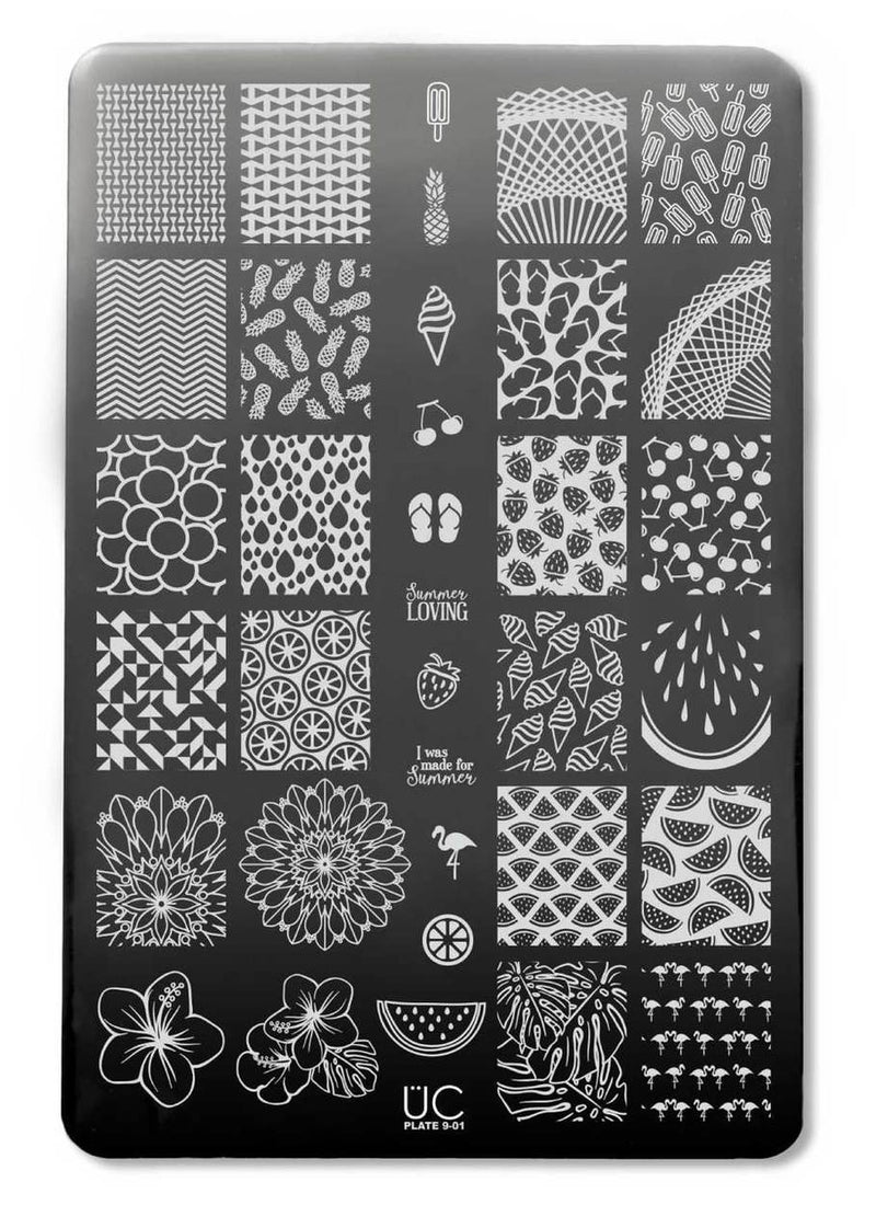 UberChic Collection 9 stamping plates