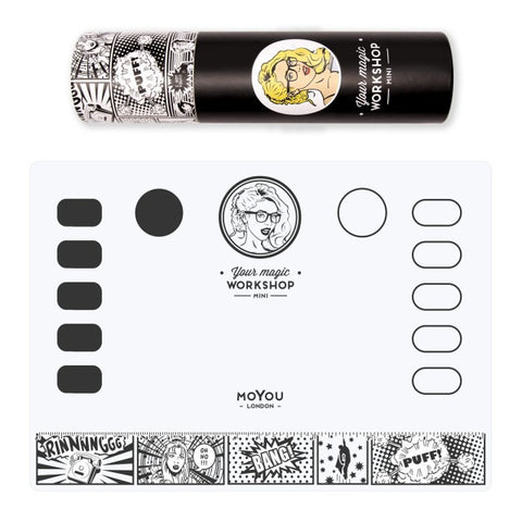 MoYou London - Your Magic Workshop Mini (with tube) - stamping and nail art mat