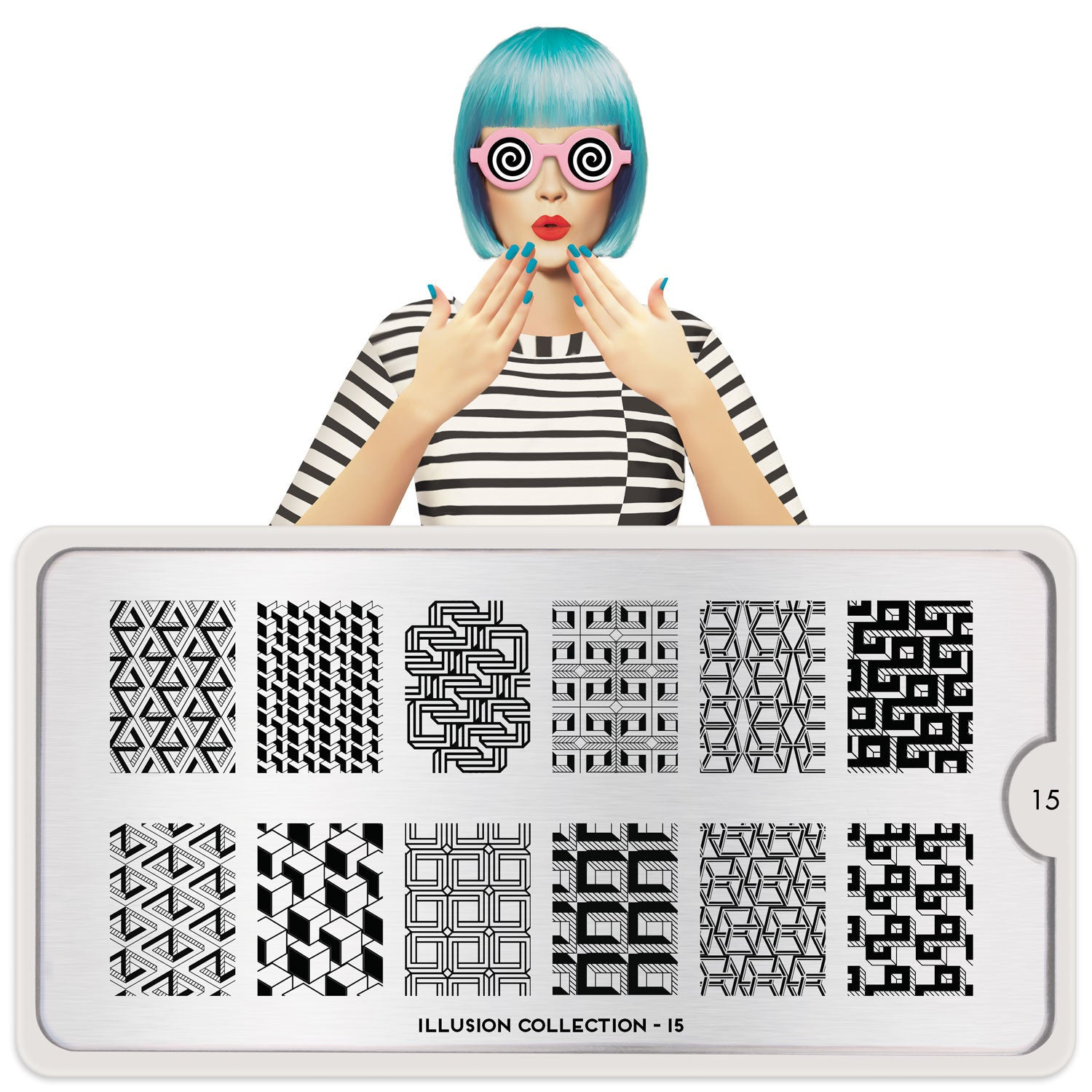 MoYou London Illusion 15 stamping plate