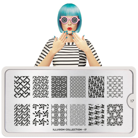 MoYou London Illusion 17 stamping plate