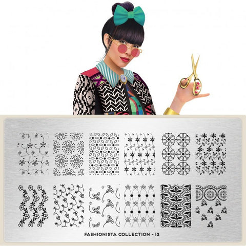 MoYou London Fashionista 12 stamping plate