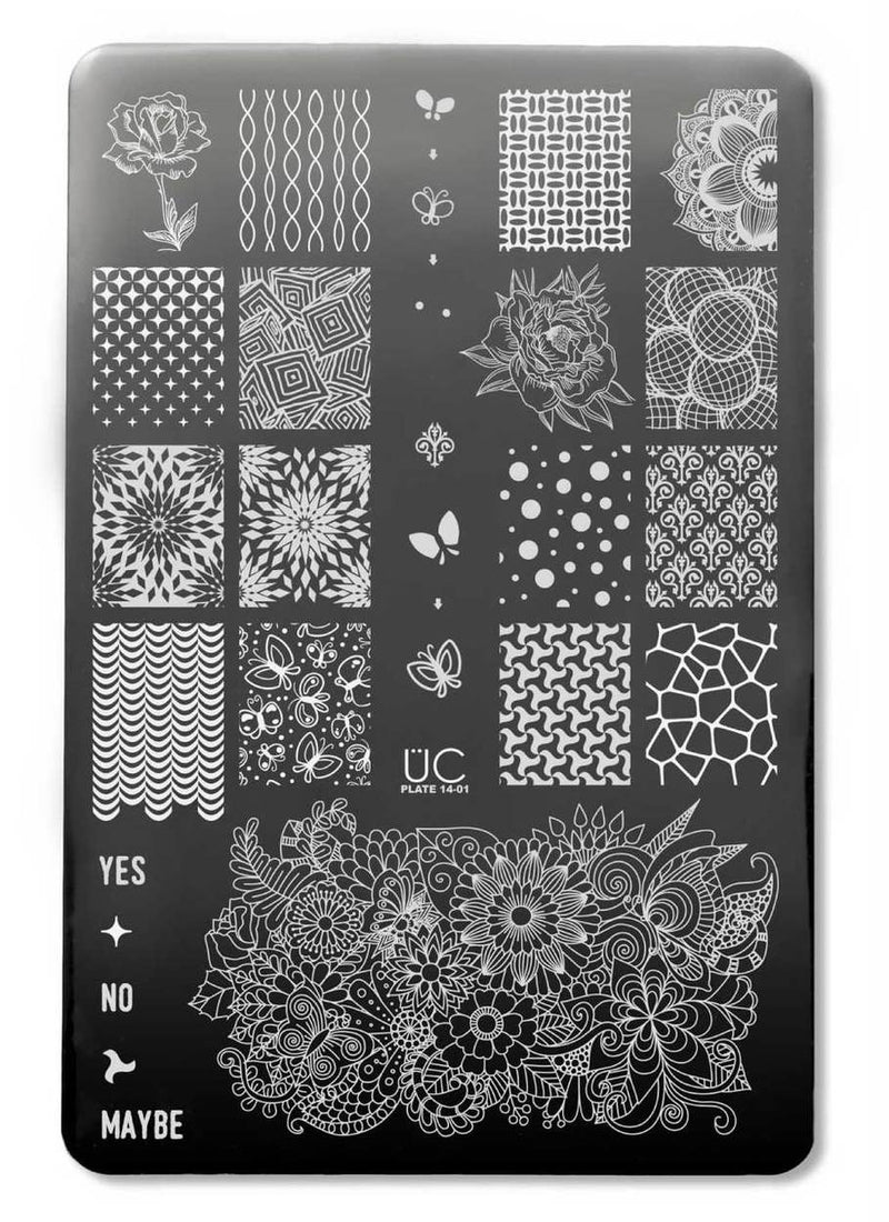 UberChic Collection 14 stamping plates