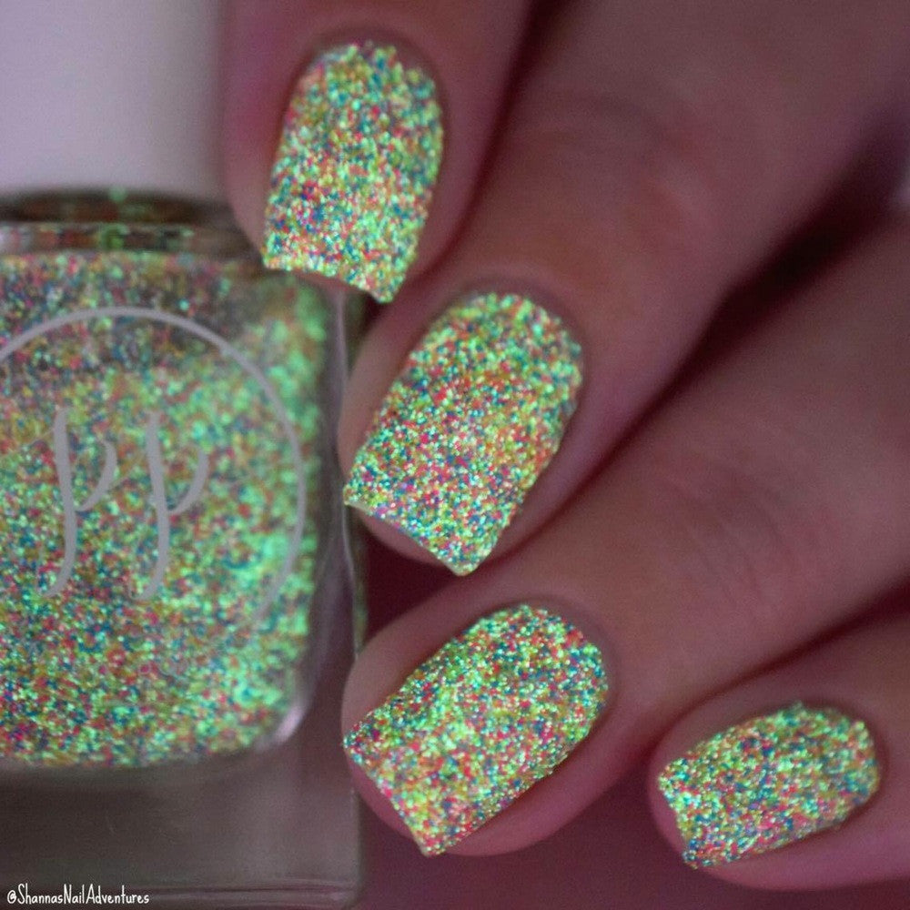 Painted Polish - Aurora (Glow-in-the-Dark! - green glow) | Hypnotic ...