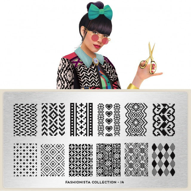 MoYou London Fashionista 14 stamping plate