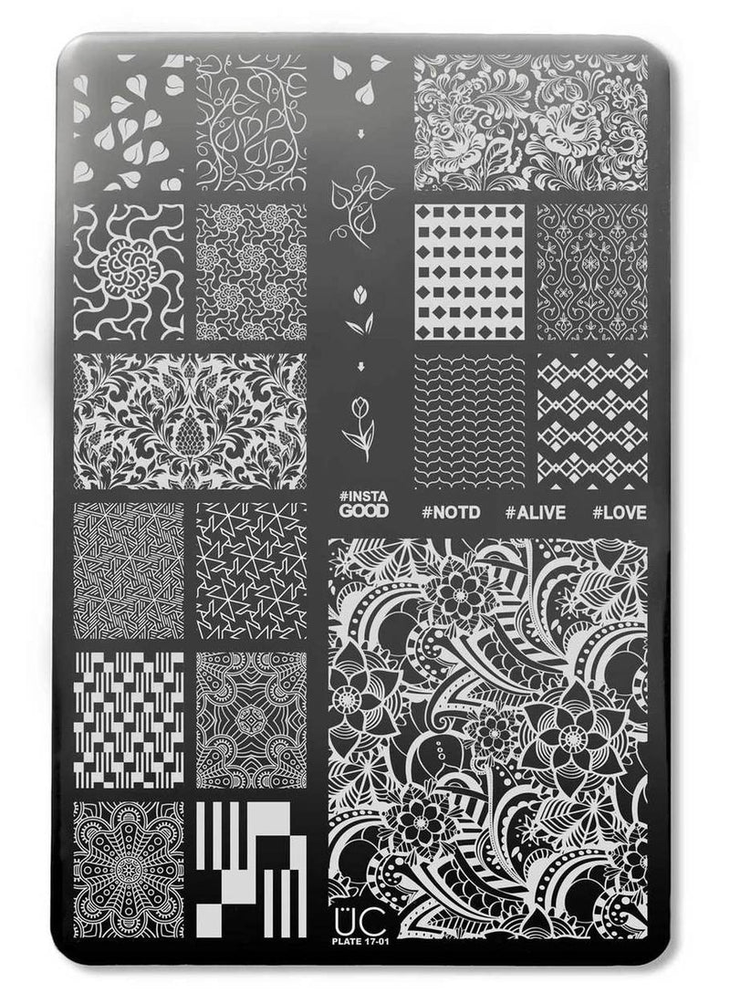 UberChic Collection 17 stamping plates