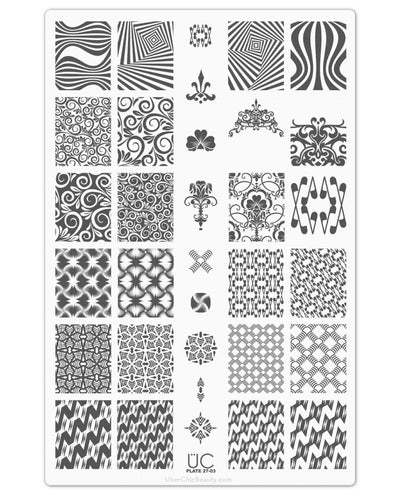 UberChic Collection 27 stamping plates