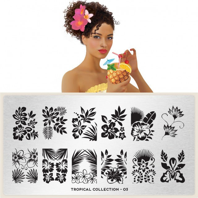 MoYou London Tropical 03 stamping plate