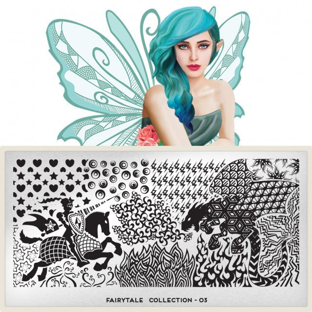 MoYou London Fairytale 03 stamping plate