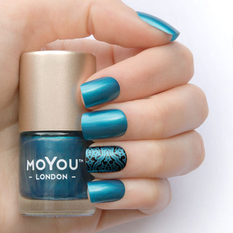 MoYou London Stamping Polish - Peacock Blue