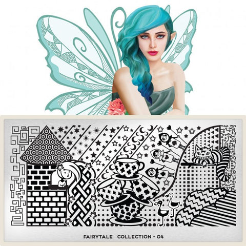 MoYou London Fairytale 04 stamping plate