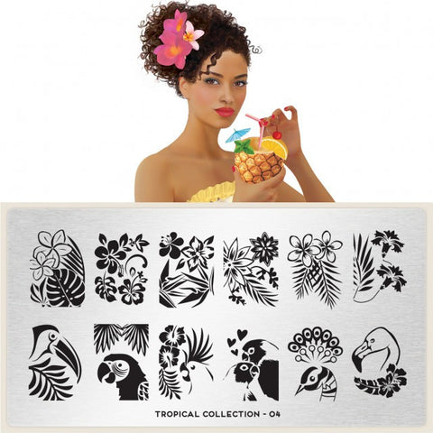 MoYou London Tropical 04 stamping plate